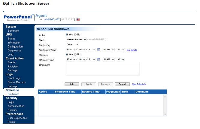 dat-lich-shutdown-server